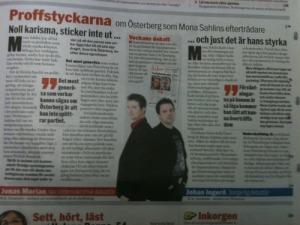 Proffstyckarna Morian och Ingerö kommenterar politik